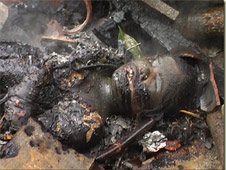 A girl charred to death earlier in Orissa