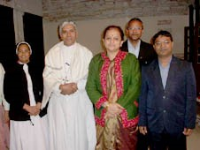 The Christian delegation headed by Archbishop Leo Cornelio with Education minister Archana Chitnis in Bhopal