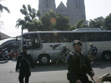 Bomb threats to a Church in West Borneo, Indonesia