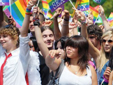 Large Gay Pride March as United Nation Council approve Gay Rights Resolution
