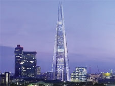 The Shard, which is under construction, will be the tallest building in the EU.