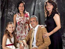 The Rev. Carlos Lamelas with his family