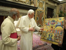 Major Archbishop Alencherry meets Pope