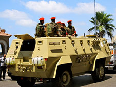 The Egyptian military has denied rolling over Christian protestors