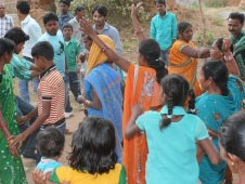 Christians of Gadragam dance to the tune of hymns on the New Year Day