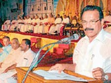 Chief Minister D V Sadananda Gowda in Manglore diocese