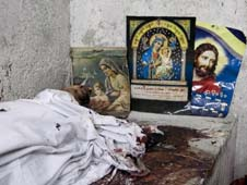 At least 24 Coptic Christians were killed in Cairo during clashes with the Egyptian Army