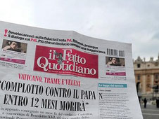 Letter claims pope would die within 12 months