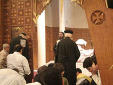 Egypts copts at a service