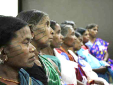 Victims at the National People's Tribunal on Kandhamal held in Delhi.