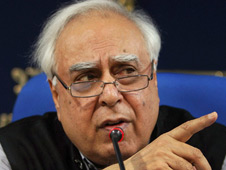 Kapil Sibal, minister for HRD, communications and IT