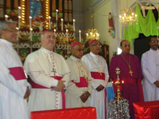 Leaders from different Christian denominations and religions took part in the ceremony