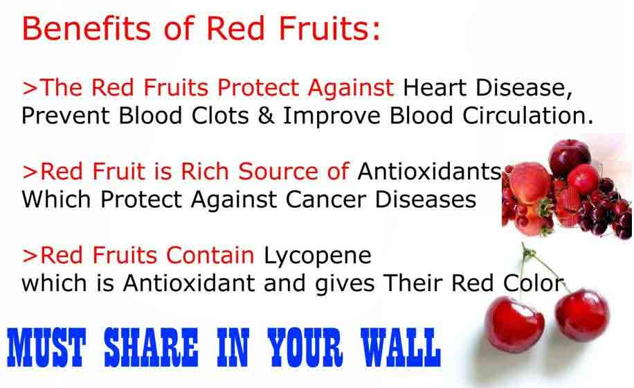 Benefits of red fruits