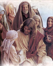 Jesus Christ with the people