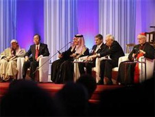 Heads of various religions at the new centre for interfaith dialogue in Vienna