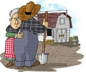 The farmer and his wife crying