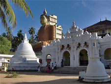 Buddhism is the dominant religion in Sri Lanka
