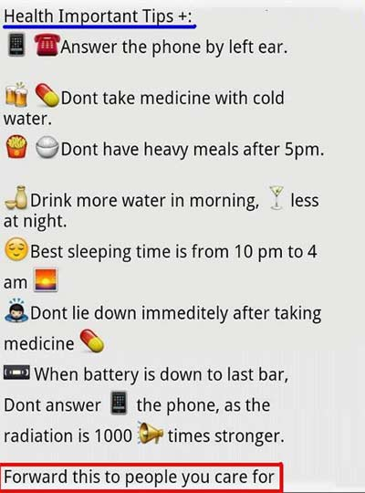 Health Important Tips