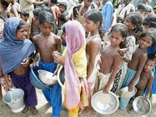 India: loosing battle to eliminate poverty, hunger and child mortality by 2015