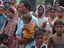 Victims of Bodo violence in a refugee camps
