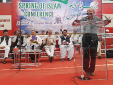 H Abdur Raqeeb delivering presidential speech at 'Businessmen Session in Spring of Islam Conference in Hyderabad on 13 January 2013