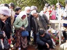 The funeral of three Kachin boys killed in a bombing by the Burmese military