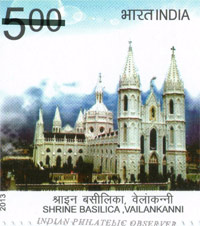 India Post released a stamp featuring Vailankanni