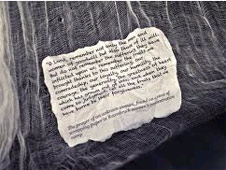The prayer, found in the clothing of a dead child