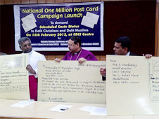 One million post cards campaign' for Dalit Christians & Muslims in SC