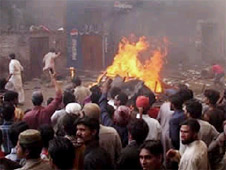A Muslim mob torched 178 homes in Joseph Colony