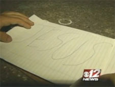 """Professor DeAndre Poole instructed students to write """"Jesus"""" in large print on a piece of paper then stomp it"""