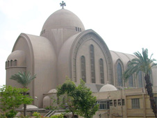 The funeral was held at St Mark's Cathedral in Cairo