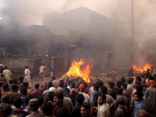 Angry Muslims recently attacked Christian area in Lahore