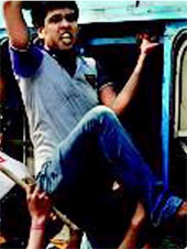 Josef Azam Hossain being taken to Presidency Jail after his arrest for taking part in a protest
