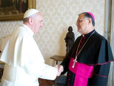 Patriarch Twal and Pope Francis