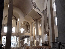 Many Christian buildings in Syria have been badly damaged or destroyed