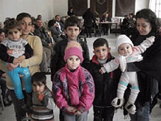 Displaced Christians in Syria who receive emergency relief from Barnabas Fund