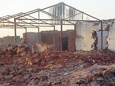 The remains of a demolished church building in Khartoum