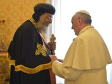 Tawadros II and Pope Francis