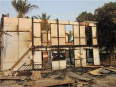 A burnt-out madrassa