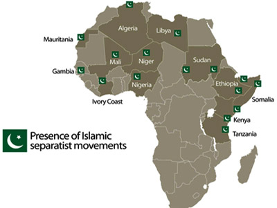 Presence of Islamic separatist movements