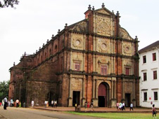 Old Goa is a well-frequented archaeological and historical site