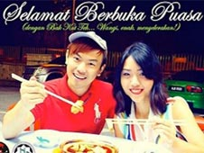 Couple posted photo of them eating during Ramadan