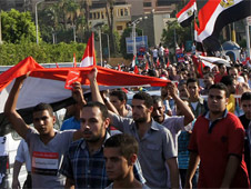 Protests against Morsi were held on his first anniversary in office