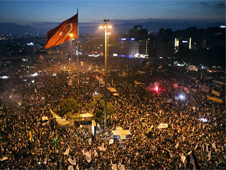 Taksim Square has been the focal point for anti-government protests
