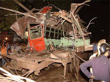 Best bus in which explosion occurred killing 4 people