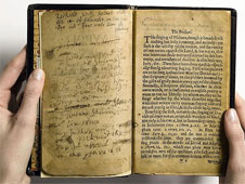 The world's most expensive book, The Bay Psalm Book, was the first book printed in what is now the United States