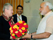 Ms. Nancy Powell met with Mr. Modi