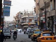 A street in the centre of Raqqa before the Syrian civil war