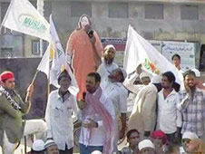 Muslims in Malegaon gathered with an effigy of Najma